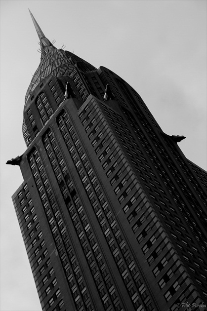 Chrysler Building B&W