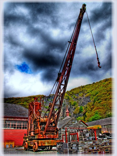 Crane at the National Slate Museum ...HDR