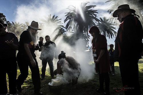 Aboriginal smoking ceremony