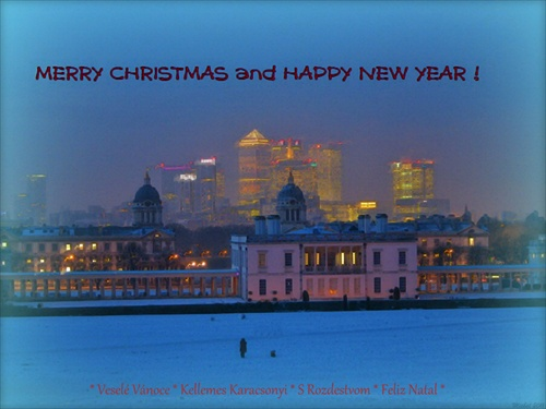 Christmas postcard from London