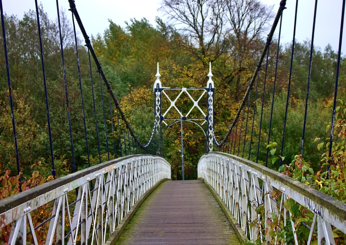 Howley Suspension Bridge, Warrington UK