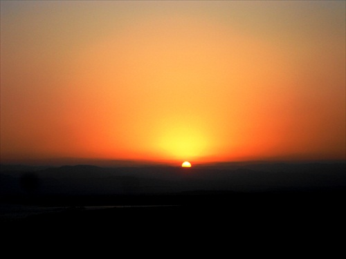 Sunset over Israel