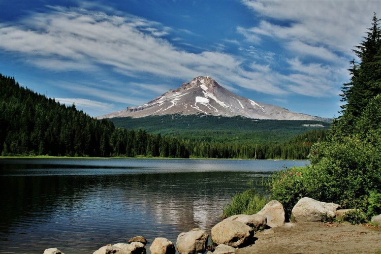Mt. Hood at Trillium Lake 26. augusta 2009